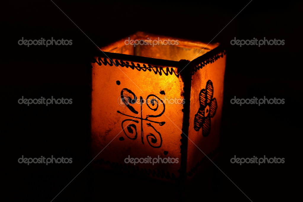 A candle in the dark  Stock Photo #9302636