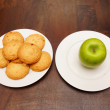 Healty apple and cookies — Stock Photo #9649185