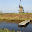 Windmill in Kinderdijk - Stock Photo
