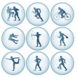 Olympic Sport Icons Set 1 - Stock Vector