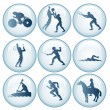 Stock Vector: Olympic Sport Icons Set 3