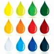 Paint Drops - Stock Vector