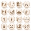 Office Icons, Signs. — Stock Vector