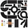 Stock Vector: Road Construction Elements