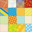 Seamless Fabric Texture — Vector de stock #10578781