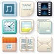 Stock Vector: Square Menu Icons 2