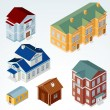 Stock Vector: Vector Isometric House 1