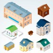 Stock Vector: Vector Isometric House 2