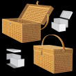 Vector Picnic Basket - 图库矢量图片