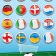 Euro 2012 Group Flags — Stock Vector