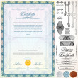 Certificate Template - Imagens vectoriais em stock