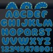 Denim Patch Font — Image vectorielle