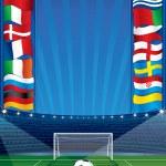 Euro Soccer Background — Stock Vector