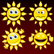 Funny Sun 1 — Stock Vector