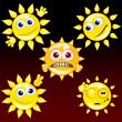 Funny Sun 2 — Stock Vector