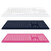 Set of Vector Keyboards — Stock Vector