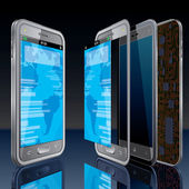 Modern Phone Design — Stock Vector