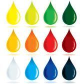 Gotas de pintura — Vector de stock