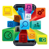 Apps téléphone — Vecteur