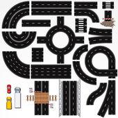 Yol inşaat elemanları — Stok Vektör
