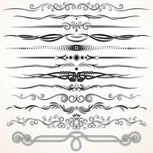 Decorative Rule Lines — Stock Vector