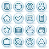 Shiny Round Icons 3 — Stock Vector