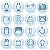 Shiny Round Icons 4 — Stock Vector