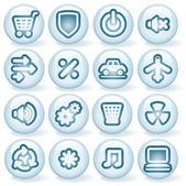 Shiny Round Icons 5 — Stock Vector
