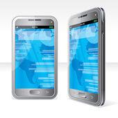 Silver Smartphone — Stock Vector