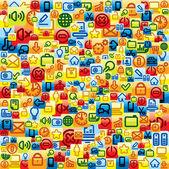 Sociale media patroon — Stockvector