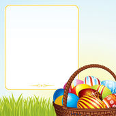 Spring Easter Basket — Stock Vector
