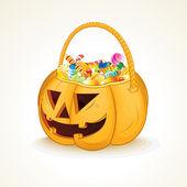 Tricks or Treats Halloween Jack O Lantern — Stock Vector