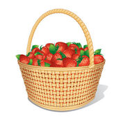 Vector Strawberry Basket — Stock Vector