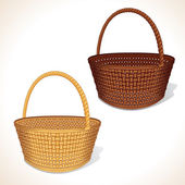 Vector Woven Basket — Vector de stock