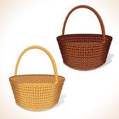 Vector Woven Basket — Stock Vector