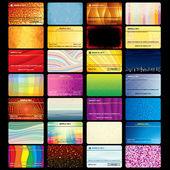 κάρτα φορέα πρότυπα — Διανυσματικό Αρχείο