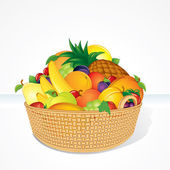 Deluxe Fruit Basket — Stock Vector