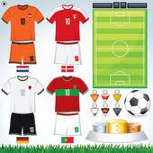Euro 2012 gruppo b — Vettoriale Stock