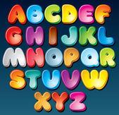 Funky písmo — Stock vektor