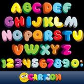 Grappige strips lettertype — Stockvector