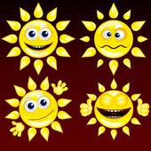 Funny Sun 1 — Stock Vector