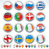 Groups of Euro 2012 — Stock Vector