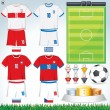 Euro 2012 Group A - Stock Vector