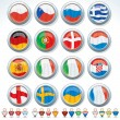 Stock Vector: Groups of Euro 2012