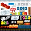 2013 Labels — Vector de stock #10600165