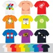 Vector de stock : T Shirt Templates