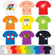 T Shirt Templates — Vector de stock