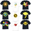 T Shirt Templates — Stock vektor