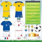 Euro 2012 Group D — Stock Vector