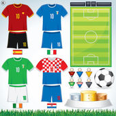 Euro 2012 Group C — Stock Vector
